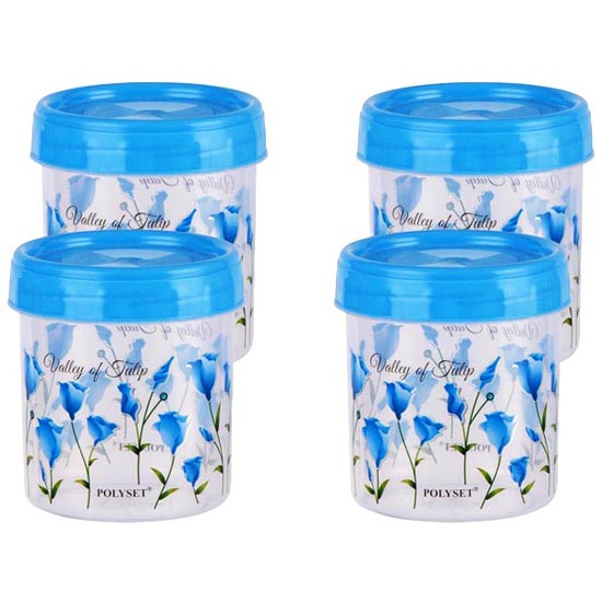Polyset Twisty Blue Plastic Container 1.05 L (Set of 3)